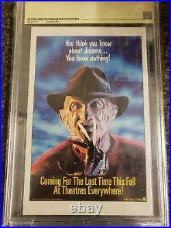Nightmares on Elm Street #1 CBCS 9.4 Sign R Englund not CGC