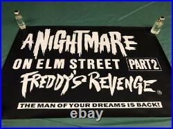 Original A Nightmare on Elm Street 2 Freddys Revenge Quad Poster 1986