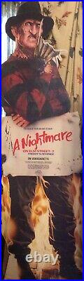RARE nightmare on elm street part 2 rare freddy promo standee Excellent