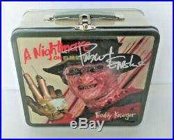 ROBERT ENGLUND A Nightmare On Elm Street SIGNED Freddy Krueger LUNCHBOX