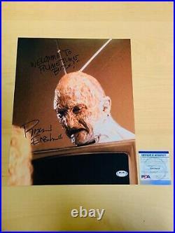 ROBERT ENGLUND SIGNED NIGHTMARE ON ELM STREET FREDDY KRUEGER 11x14 PHOTO PSA