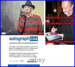 ROBERT ENGLUND signed NIGHTMARE ON ELM STREET PHOTO a PROOF Freddy Krueger ACOA