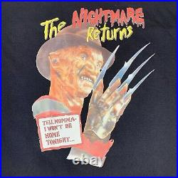 Rare Vintage 80s Freddy Krueger Nightmare On Elm Street Movie Promo T Shirt XL