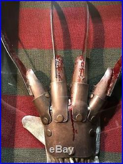 Real Metal Freddy Glove Nightmare On Elm Street Hat Sweater Horror Movie Prop