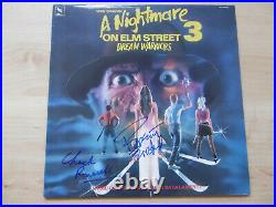 Robert Englund Autogramme signed LP-Cover A Nightmare On Elm Street 3 Vinyl