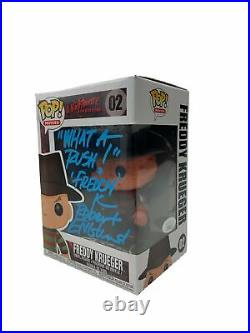 Robert Englund Autograph Funko POP A Nightmare On Elm Street Freddy Krueger Sign
