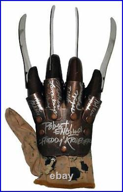 Robert Englund Freddy Krueger Cast Autographed Nightmare Elm St Glove ASI Proof