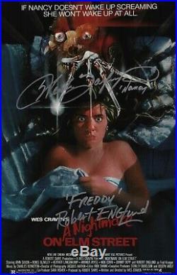 Robert Englund Heather Langenkamp Signed A Nightmare On Elm Street Movie Poster