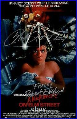 Robert Englund Heather Langenkamp Signed A Nightmare on Elm Street 11x17 Poster