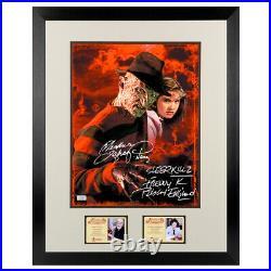 Robert Englund Langenkamp Autographed Nightmare on Elm Street 11x14 Framed Photo