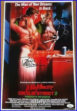 Robert Englund Signed 11x17 Photo Poster'a Nightmare On Elm Street 2' Jsa Coa