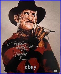 Robert Englund Signed 16x20 Photo Nightmare on Elm Street Autographed JSA COA 2