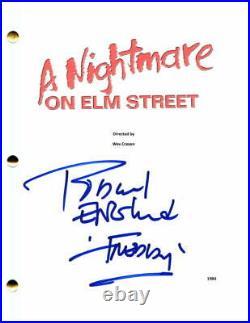 Robert Englund Signed Autograph A Nightmare On Elm Street Full Movie Script Rare