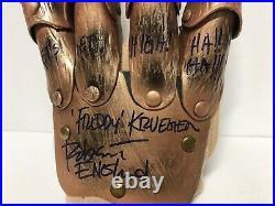 Robert Englund Signed Freddy Krueger Glove A Nightmare On Elm Street JSA COA