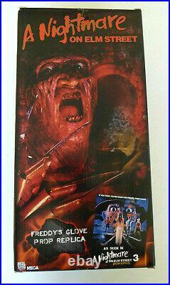 Robert Englund Signed NECA Freddy Krueger Glove, Nightmare Elm Street 3, JSA COA
