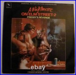 Robert Englund Signed Nightmare on Elm Street 2 12 Album Cover Vinyl AFTAL
