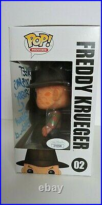 Robert Englund signed Funko Pop, Freddy Krueger, Nightmare on Elm Street JSA