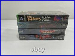 Sealed New 4 Lot VHS Horror Movie Wes Craven's A Nightmare On Elm Street Party