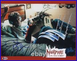 Signed Johnny Depp 11x14 Nightmare On Elm Street Photo Bas Jack Sparrow Beckett