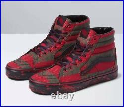 Size 13 Vans X Horror Nightmare On Elm Street SK8-Hi Freddy Krueger Mens Shoes