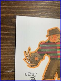 Tom Whalen Original Marker Sketch Jason Nightmare On Elm Street 4 x 4 Mondo