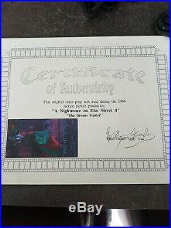 Ultra Rare Nightmare on Elm Street 4 Original Screen Used Boiler Room Chain Prop