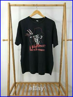 VTG A Nightmare On Elm Street Freddy Krueger Movie Promo T-Shirt Sz XL RARE