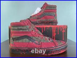Vans Sk8-Hi x Horror Nightmare On Elm Street Freddy Krueger Mens Size 11.5
