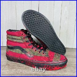 Vans X Nightmare On Elm Street SK8-Hi Freddy Krueger Mens Size 9-13 RARE