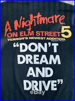 Vintage 1989 T Shirt A Nightmare On Elm Street 5 Freddy Krueger Rare 5 Horror XL