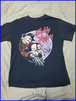 Vintage-1989 USA Made T Shirt A Nightmare On Elm Street 5 Freddy Krueger Horror