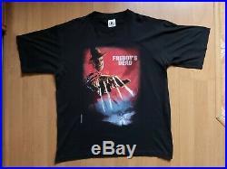 Vintage 1997 A Nightmare On Elm Street Freddy Krueger Movie Promo T-Shirt Sz XL