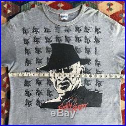 Vintage 80s Nightmare On Elm Street T Shirt Freddy Krueger 1989 Promo XL Horror