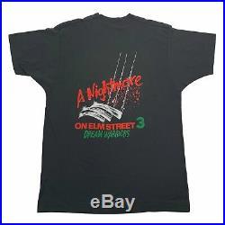 Vintage A Nightmare On Elm Street 3 Dream Warriors T-Shirt Sz L