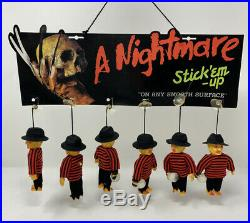 Vintage A Nightmare On Elm Street Stick Em Up Freddy Figure Display Complete
