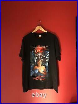Vintage Nightmare On Elm Street Movie Film T-Shirt Size Large tee