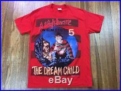 Vintage Nightmare On Elm Street Shirt Sz S Freddy Krueger Horror Movie T Promo