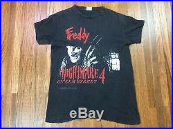 Vintage Nightmare On Elm Street T Shirt Sz M Freddy Krueger Horror Movie Promo