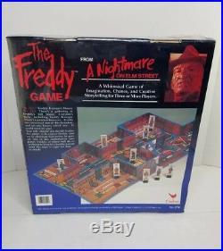 Vtg 1989 A Nightmare On Elm Street The Freddy Game Board Game #3700 RARE NIB