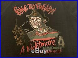 Vtg 80s Nightmare on Elm Street 4 1988 Sweatshirt Come To Freddy! Horror Krueger
