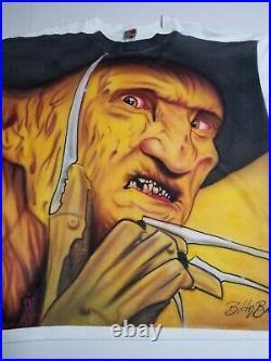 Vtg 90s All Over Print Freddy Krueger Nightmare On Elm Street Movie Promo 3XL