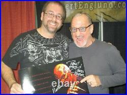 WES CRAVEN & ROBERT ENGLUND signed NIGHTMARE ON ELM STREET 3 11x14 Photo PSA #4